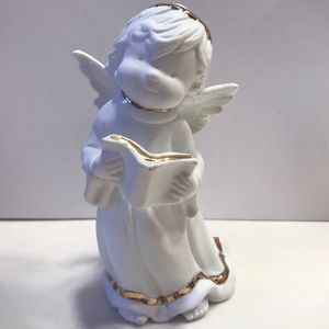 Angel Statue holding Bible/book